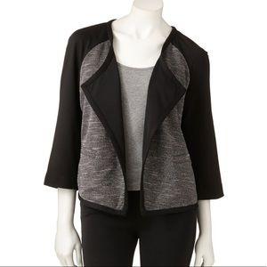 Dana Buchman Ponte Open-Front Jacket Blazer
